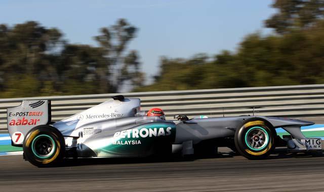 Schumacher fastest in Jerez