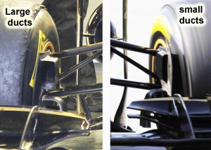 Lotus Renault R31 – Front brake ducts