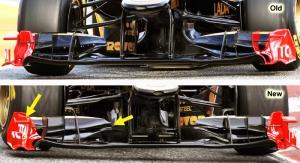 Lotus Renault R31 – Front wing