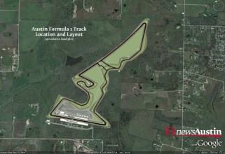 Work currently stopped at 2012 US GP venue