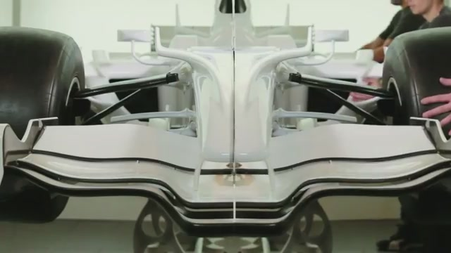 New film footage shows an F1 racing car sliced into two