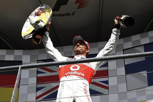 Button doesn't enjoy Monza podium