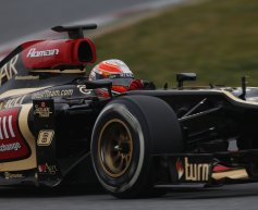 Grosjean content after race simulation