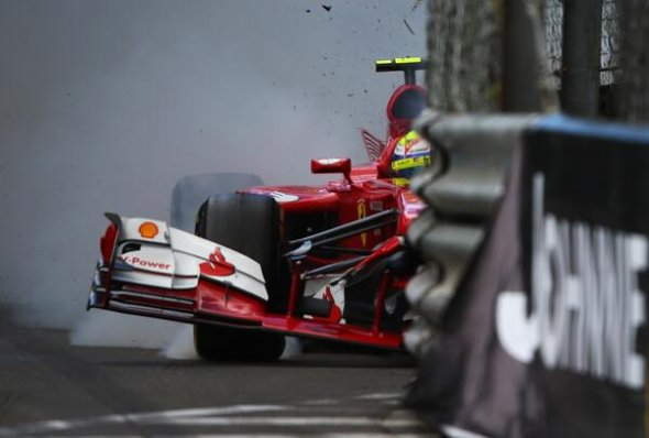 Accidents blighted Massa's Monaco weekend