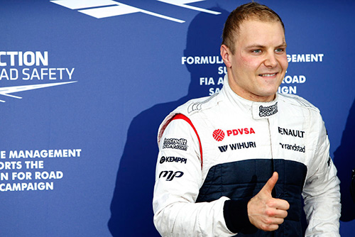 Bottas was third on the grid in Canada