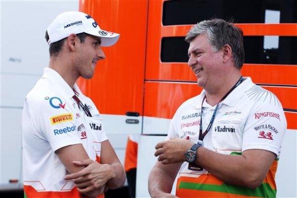 Otmar Szafnauer with regular driver Adrian Suil