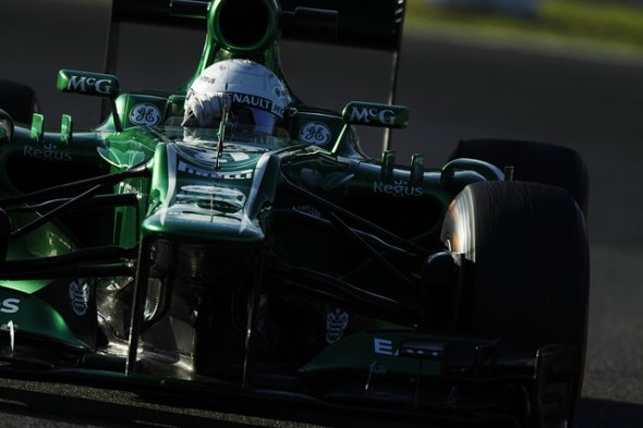 Van der Garde's run at Spa stunned the team. Caterham F1 Team