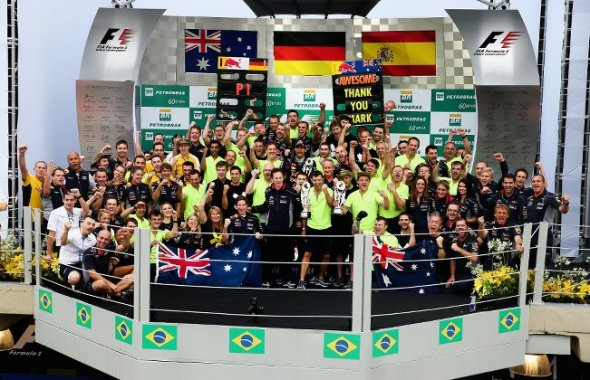 Brazil podium