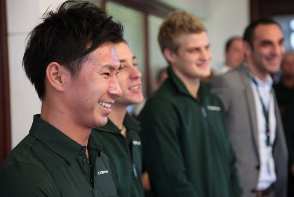 It's Tom's job to look after this lot. Caterham F1 Team