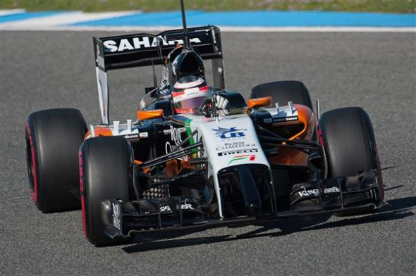 Force India is looking to build on last year's sixth place. Sahara Force India.