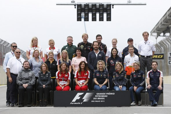 Formula 1's media gurus, pictured in Brazil last year. Caterham F1 Team.