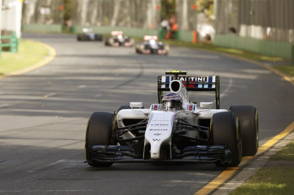 Valtteri Bottas finished fifth in Australia. Williams Martini.