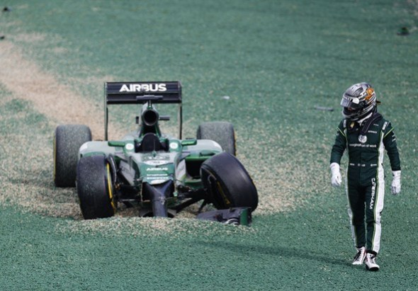 Sometimes the best has to be made of a bad situation. Caterham F1 Team.