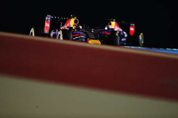Vettel ceded position to Ricciardo twice in Bahrain. Red Bull/Getty Images