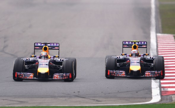 Ricciardo beat Vettel in China. Red Bull/Getty Images