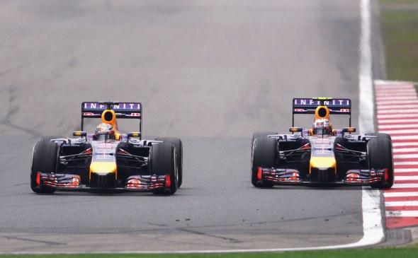 Ricciardo beat Vettel in China. Red Bull/Getty Images