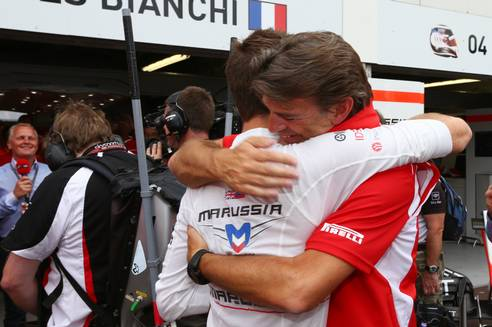 This is what two points means to the team. Marussia F1 Team.