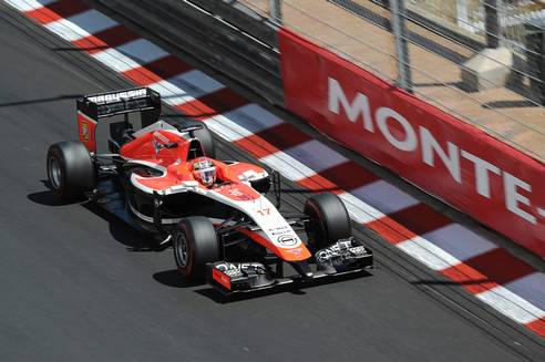 Bianchi was rapid all weekend. Marussia F1 Team.