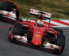 Ferrari SF15-T: Front Wing changes in Barcelona