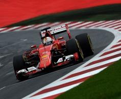 Vettel fastest prior to rain in Austria