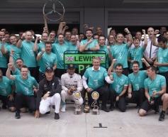 Wolff hails Mercedes' second world title