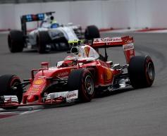 Raikkonen content with podium finish