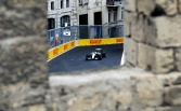 Hamilton stays on top in Baku practice