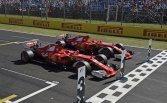 Ferrari locks front row in qualifying