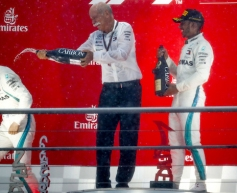 Hamilton leads Mercedes 1-2 victory