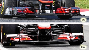 McLaren MP4/26A – New front wing in last winter test
