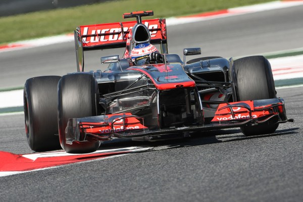 Button heads FP2 for McLaren in Spain
