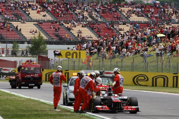 Harsh penalty for error-prone McLaren