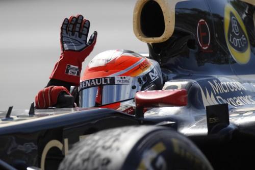 Grosjean delights in crazy end to race