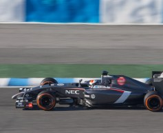 Sauber satisfied with first test