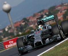 Hamilton stays on top in second practice