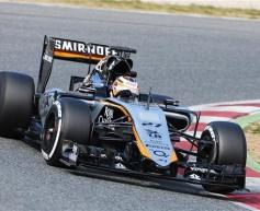 Hulkenberg debuts new Force India at Barcelona