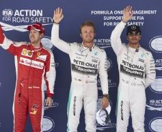 Rosberg ends Hamilton streak with pole