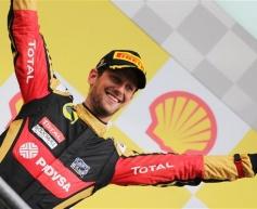 Grosjean elated by return to podium
