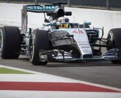 Hamilton stays ahead at drying Monza