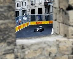 Hamilton stays on top in Baku practice