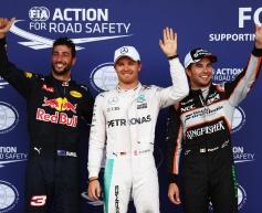 Rosberg takes pole, Hamilton crashes out