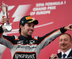 Perez thrilled by Force India podium return